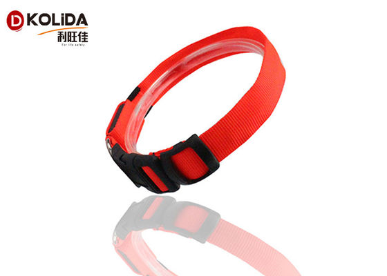 LED Dog Collar Keselamatan Cahaya Bercahaya LED Flashing Lights Neck Strap Gifts