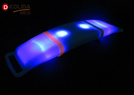 Cina USB LED Arm Band Silicon USB Rechargeable Flashing LED Armband Light Up Safety Armband Distributor